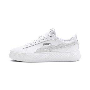 Thumbnail 1 of Puma Smash Platform Women's Shoes, Puma White-Puma White-White, medium