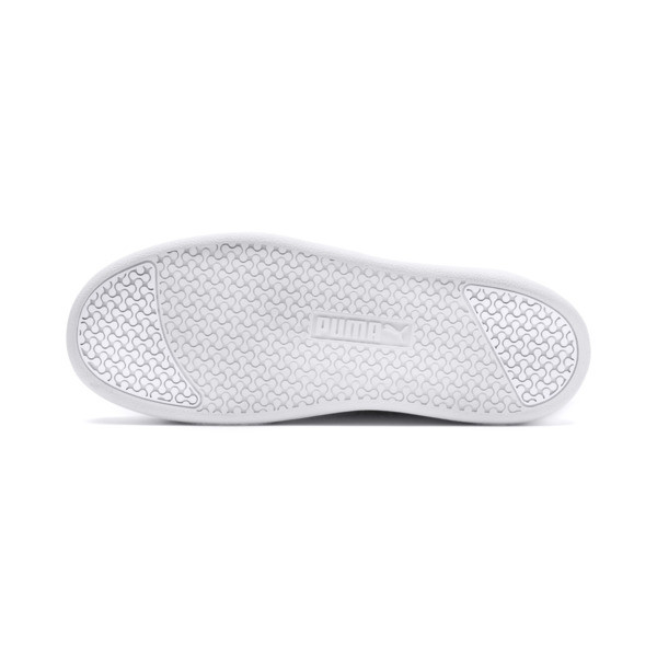 Smash Platform Leather Women's Sneakers, Puma White-Puma White-White, large