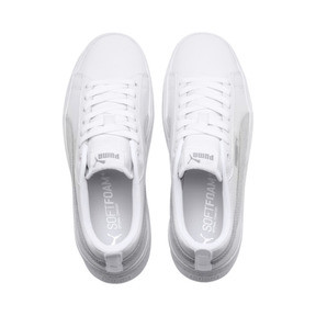 Thumbnail 6 of Puma Smash Platform Women's Shoes, Puma White-Puma White-White, medium