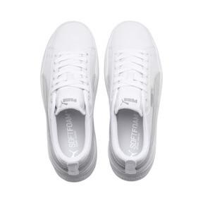 Thumbnail 6 of Smash Platform Leather Women's Sneakers, Puma White-Puma White-White, medium