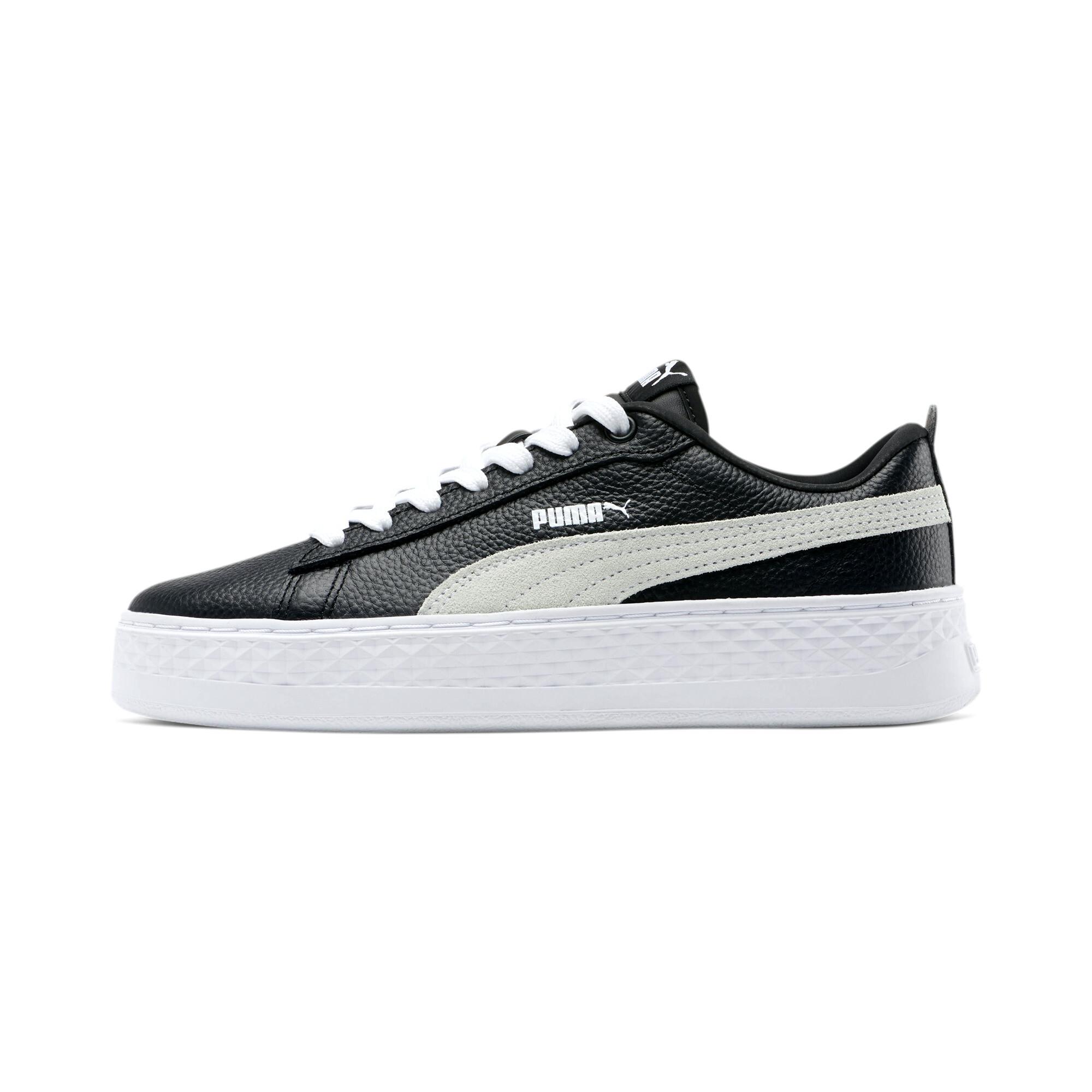PUMA-Smash-Platform-Leather-Women-039-s-Sneakers-Women-Shoe-Basics thumbnail 19