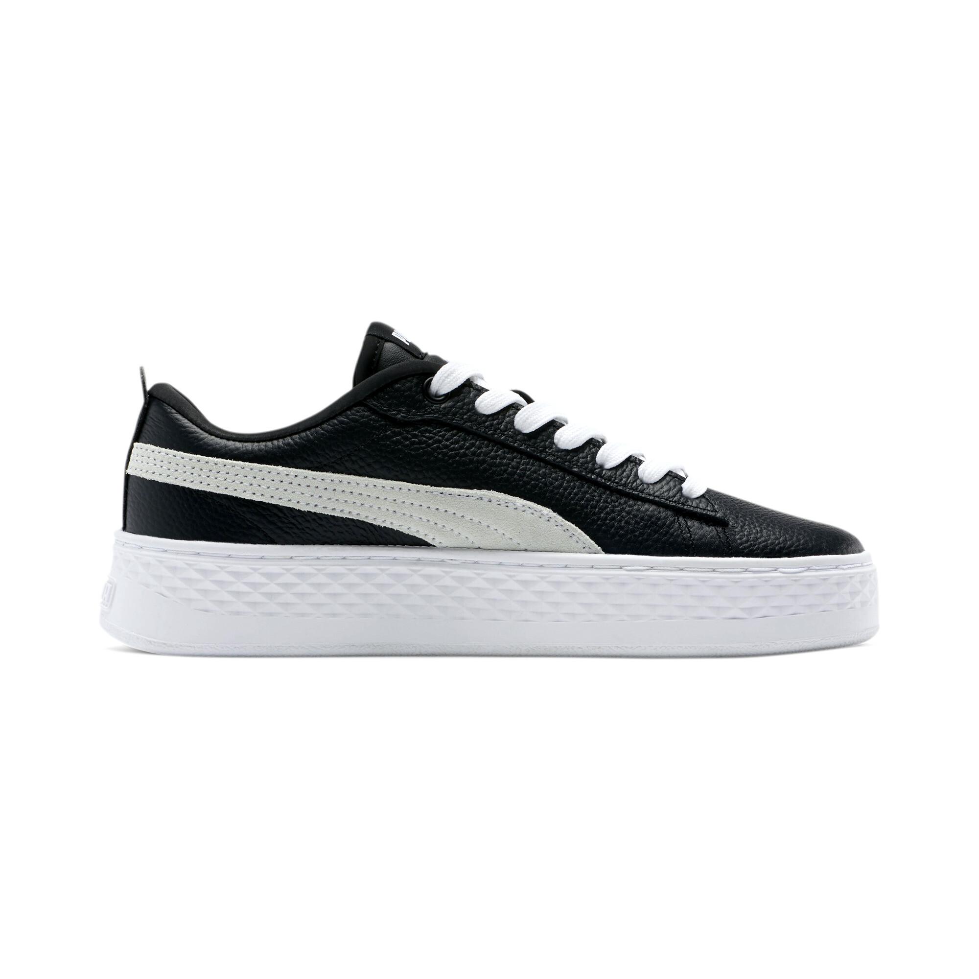 PUMA-Smash-Platform-Leather-Women-039-s-Sneakers-Women-Shoe-Basics thumbnail 21