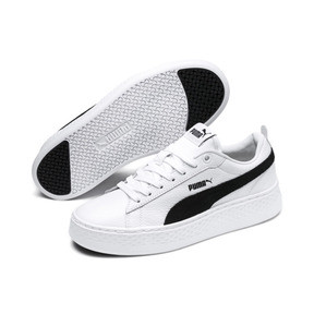 Thumbnail 2 of Puma Smash Platform Women's Shoes, Puma White-Puma Black, medium