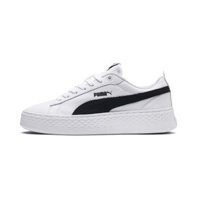 Thumbnail 1 of Puma Smash Platform Women's Shoes, Puma White-Puma Black, medium