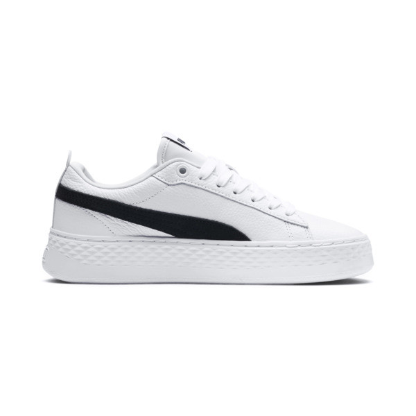 Puma Smash Platform Women's Shoes, Puma White-Puma Black, large