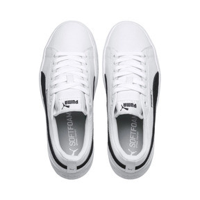 Thumbnail 6 of Puma Smash Platform Women's Shoes, Puma White-Puma Black, medium