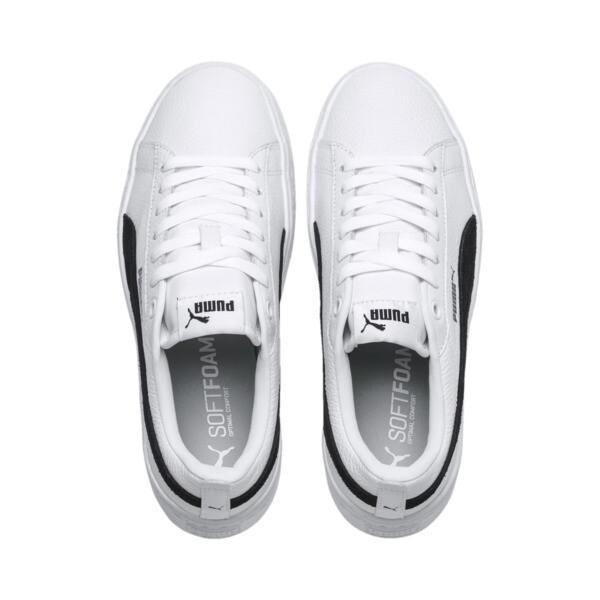 Zapatillas con plataforma de mujer Smash Puma, Puma blanco - Puma negro, grande