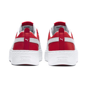 Thumbnail 3 of Puma Smash Platform Women's Shoes, High Risk Red-Puma White, medium