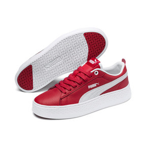 Thumbnail 2 of Puma Smash Platform Women's Shoes, High Risk Red-Puma White, medium
