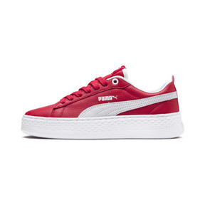 Thumbnail 1 of Puma Smash Platform Women's Shoes, High Risk Red-Puma White, medium
