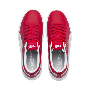 Thumbnail 6 of Puma Smash Platform Women's Shoes, High Risk Red-Puma White, medium