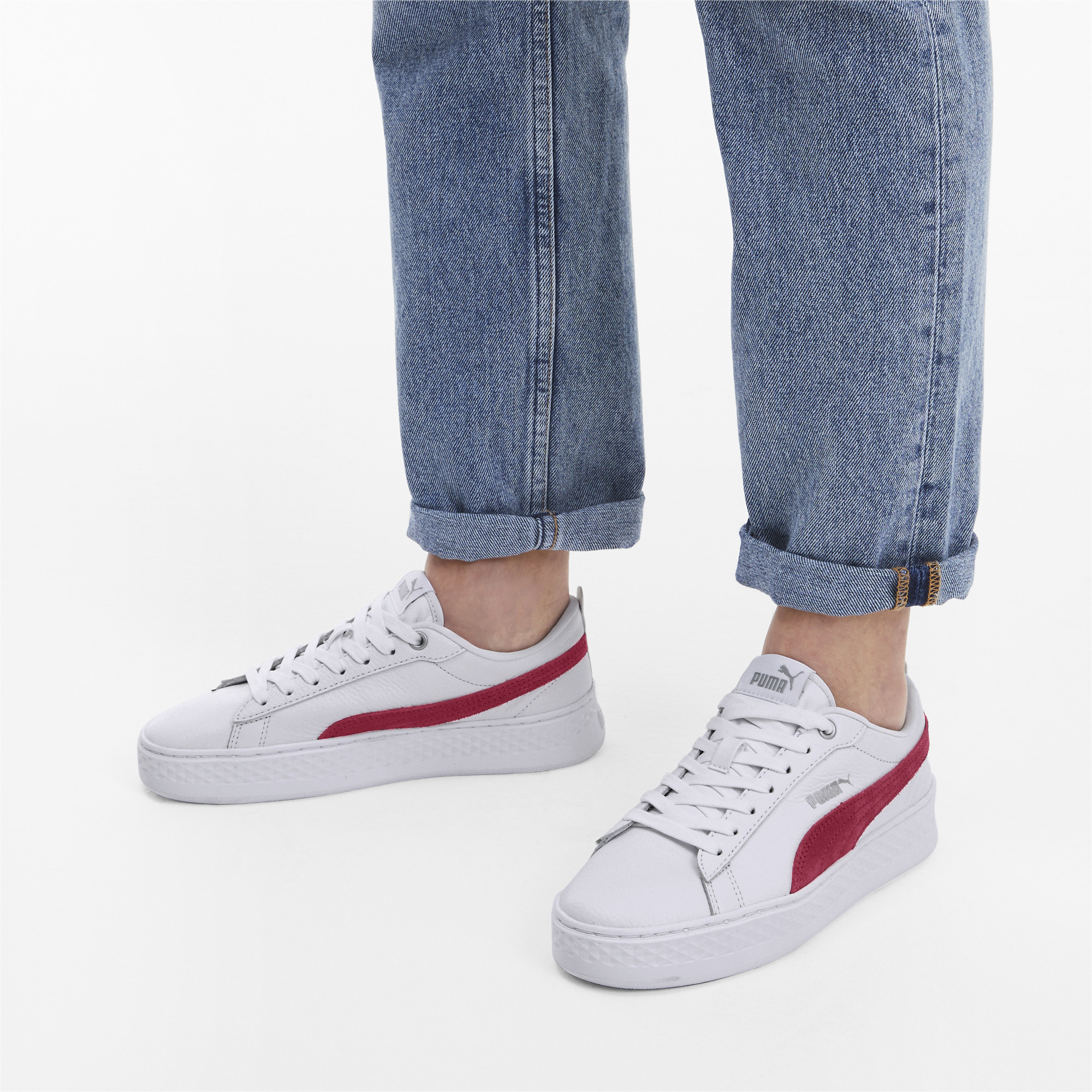PUMA-Smash-Platform-Leather-Women-039-s-Sneakers-Women-Shoe-Basics thumbnail 10