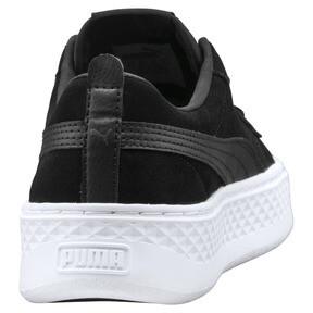 Thumbnail 3 of Smash Platform Suede Women's Trainers, Puma Black-Puma Black, medium