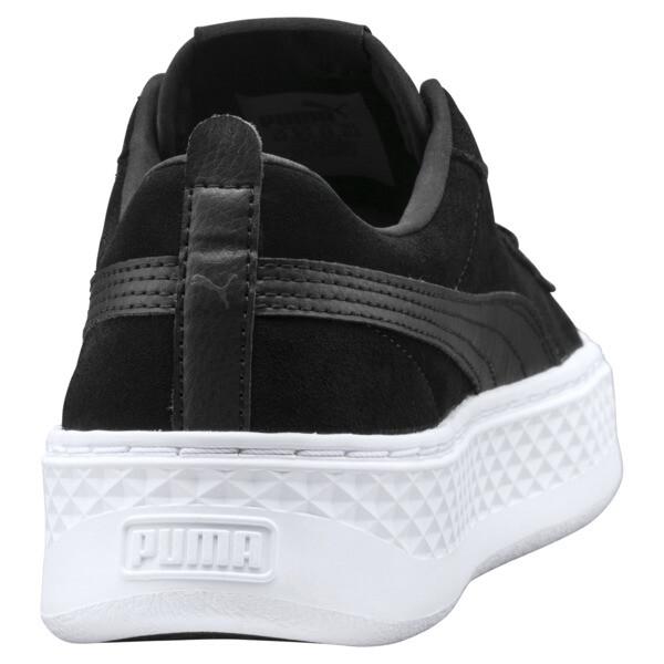 Smash Platform Suede Women's Trainers, Puma Black-Puma Black, large
