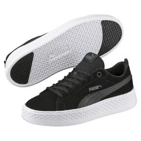 Thumbnail 2 of PUMA Smash Platform Suede Women's Sneakers, Puma Black-Puma Black, medium