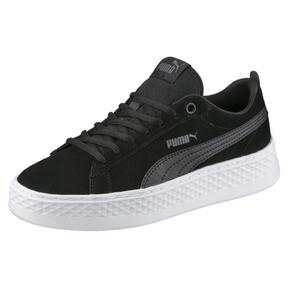 Thumbnail 1 of PUMA Smash Platform Suede Women's Sneakers, Puma Black-Puma Black, medium
