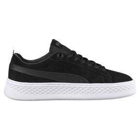 Thumbnail 4 of PUMA Smash Platform Suede Women's Sneakers, Puma Black-Puma Black, medium