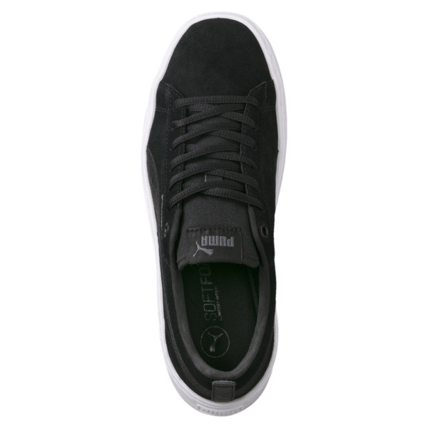 PUMA Smash Platform Suede Women's Sneakers, Puma Black-Puma Black, large