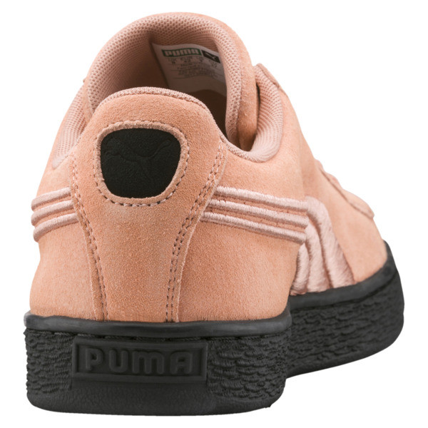 Suede Classic Badge Flip Sneakers, 01, large