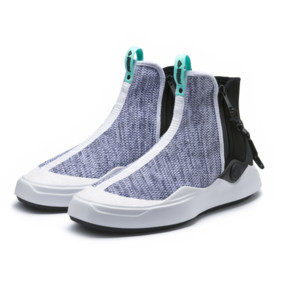 Thumbnail 2 of PUMA x DIAMOND Abyss Knit Sneakers, Puma White-Puma Black, medium