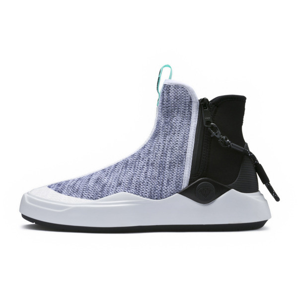 PUMA x DIAMOND Abyss Knit Sneakers, Puma White-Puma Black, large