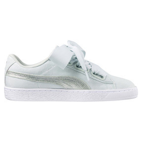 Thumbnail 3 of Basket Heart Canvas Women's Sneakers, Blue Flower-White-Silver, medium