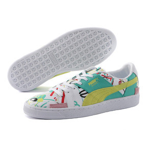 Thumbnail 2 of PUMA x SHANTELL MARTIN BASKET GRAPHIC, Puma White-Sunny Lime, medium-JPN