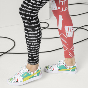 Thumbnail 8 of PUMA x SHANTELL MARTIN BASKET GRAPHIC, Puma White-Sunny Lime, medium-JPN