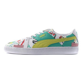 Thumbnail 1 of PUMA x SHANTELL MARTIN BASKET GRAPHIC, Puma White-Sunny Lime, medium-JPN