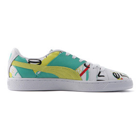 Thumbnail 5 of PUMA x SHANTELL MARTIN BASKET GRAPHIC, Puma White-Sunny Lime, medium-JPN