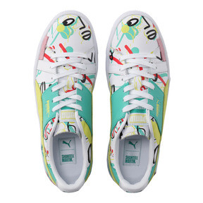Thumbnail 7 of PUMA x SHANTELL MARTIN BASKET GRAPHIC, Puma White-Sunny Lime, medium-JPN