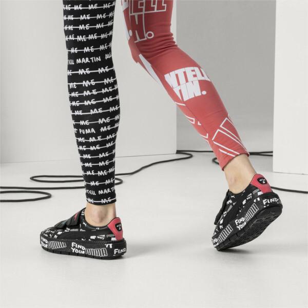 PUMA x SHANTELL MARTIN Platform Trace Strap Women's Trainers, Puma Black-Puma Black, large