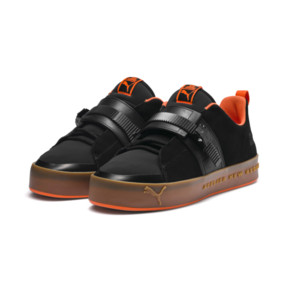 Thumbnail 2 of Basket PUMA x ATELIER NEW REGIME Court Platform Brace, Puma Black-Scarlet Ibis, medium