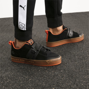 Thumbnail 9 of Basket PUMA x ATELIER NEW REGIME Court Platform Brace, Puma Black-Scarlet Ibis, medium