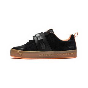 Thumbnail 1 of Basket PUMA x ATELIER NEW REGIME Court Platform Brace, Puma Black-Scarlet Ibis, medium