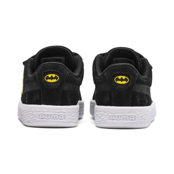 Justice League Suede AOP V Baby Sneaker, Puma Black-Dandelion, large