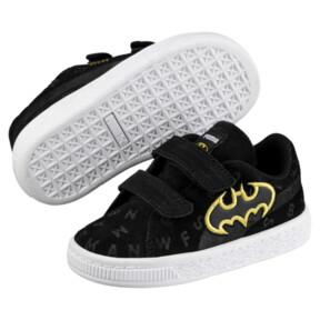 Thumbnail 2 of Justice League Suede AOP V Baby Sneaker, Puma Black-Dandelion, medium