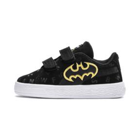 Thumbnail 1 of Justice League Suede AOP V Baby Sneaker, Puma Black-Dandelion, medium