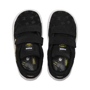 Thumbnail 8 of Justice League Suede AOP V Baby Sneaker, Puma Black-Dandelion, medium