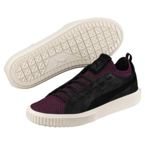 Thumbnail 2 of PUMA Breaker Knit Baroque Evolution Sneakers, Puma Black-Whisper White, medium