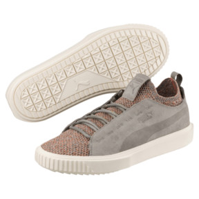 Thumbnail 2 of PUMA Breaker Knit Baroque Evolution Trainers, Elephant Skin-Whisper White, medium