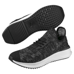 Thumbnail 2 of AVID evoKNIT Mosaic Evolution Sneakers, PBlack-IGate-GViolet, medium
