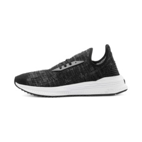 Thumbnail 1 of AVID evoKNIT Mosaic Evolution Sneakers, PBlack-IGate-GViolet, medium