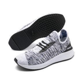 Thumbnail 2 of AVID evoKNIT Mosaic Evolution Trainers, PWhite-PBlack-Sodalite Blue, medium