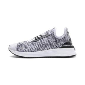 Thumbnail 1 of AVID evoKNIT Mosaic Evolution Sneaker, PWhite-PBlack-Sodalite Blue, medium