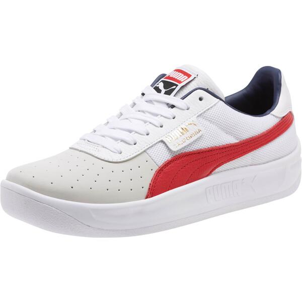California Casual Sneakers, P White-RibbonRed-P White, large