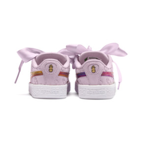 Thumbnail 4 of PUMA x MINIONS Suede Heart Fluffy Girls' Sneakers, Winsome Orchid, medium