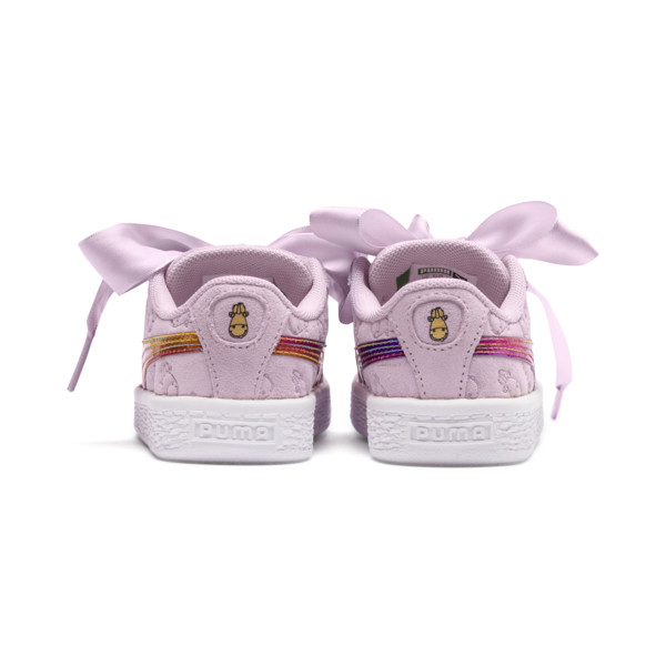 Girls Puma Fluffy Suede X Heart Minions CBeodx