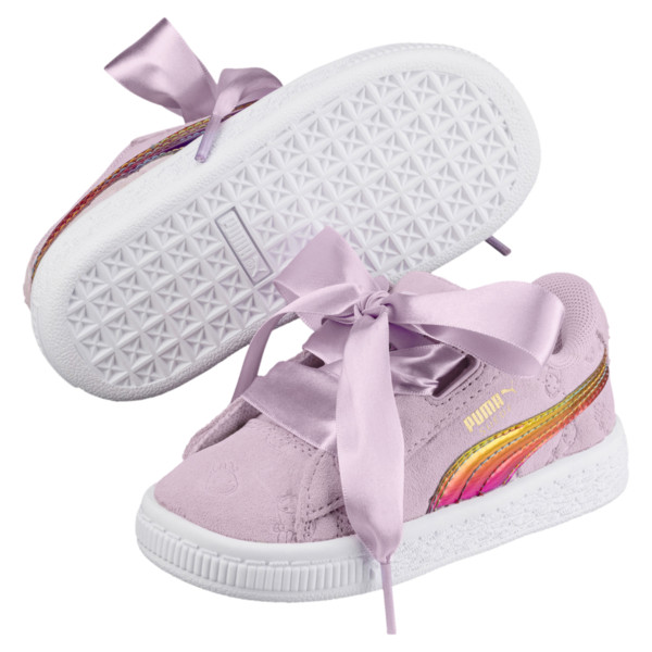 PUMA x MINIONS Suede Heart Fluffy Girls' Sneakers, Winsome Orchid, large