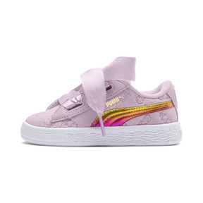 Thumbnail 1 of PUMA x MINIONS Suede Heart Fluffy Girls' Sneakers, Winsome Orchid, medium